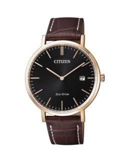 Citizen Eco-Drive Rose Gold with Brown Leather Strap_0