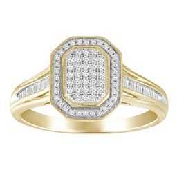 9ct Yellow and White Gold Dia Ring_0