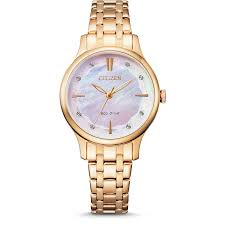Rose Gold Eco Drive Analoge Watch 50mtr_0