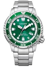 Divers Silver/green Eco drive 200mtr Watch_0