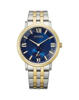 Blue Dial 50mtr WR Two Tone Watch_0