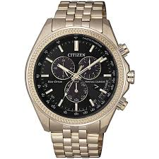 Rose Gold Day Date Chrono Eco Drive 100mtr Watch_0