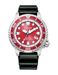 Red Eco Drive Divers Watch 200mtr WR_0