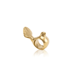 Gold Fantail Charm_0