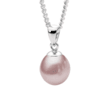 Pink Fwp 9-9.5mm Pearl pendant and Silver Chain_0