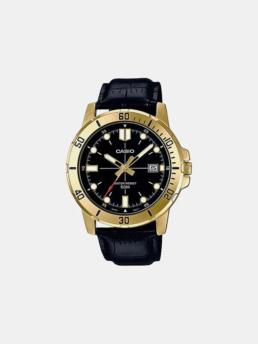 Casio Diver Look Gold/Black/Leather Watch_0