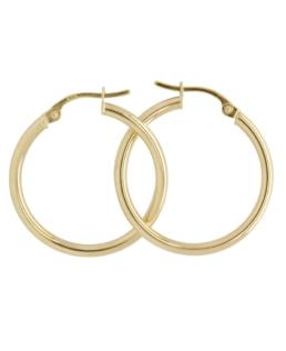 9ct Yellow Gold Hoops 20mm_0