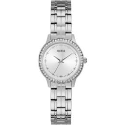 Guess Chelsea Silver Stone Set Analogue Ladies Watch_0