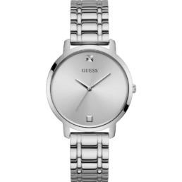 Guess Nova Ladies Silver Strap And Face Analogue Watch Water Resistant_0