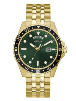 Guess Gents Comet Gold & Green Analogue Watch_0