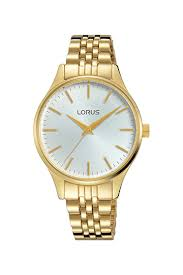 Lorus Ladies Gold Strap, White Face Analogue Water Resistant Watch_0