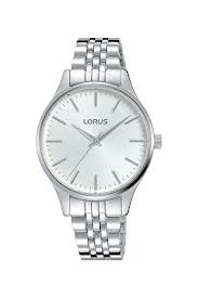Lorus Ladies Silver Face And Strap Water Resistant Watch_0