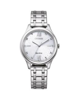 Citizen Ladies Eco-Drive Analogue Stainless Steel_0