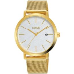 Lorus Gents Gold Analogue With Mesh Strap Water Resistant_0