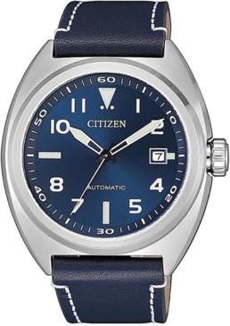 itizen Gents 100m Stainless Steel Automaic, Leather Strap_0