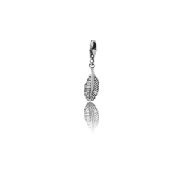 Silver Huia Feather Link Charm_0