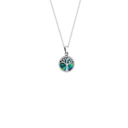 Much like a tree that stands tall and strong, providing shelter and nourishment to those under its canopy, the Tree of Life necklace celebrates your strength and protective nature for loved ones. Finely crafted from sterling silver featuring genuine New Zealand pāua, this powerful symbol represents the connection to all things precious in your life._0