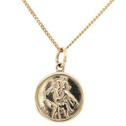 9ct Gold St Christopher Pendant exludes chain_0