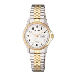 Citizen Ladies Two-Tone Ladies Analogue Stretchy Strap With Day/Date_0