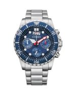 Citizen Chronograph 100mtr Blue Dial Watch Stainless Steel Strap_0