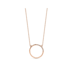 Silver Rose gold Plated Geo Pendant_0