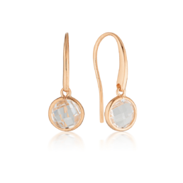 S/S Rose Gold Plated Lucent Hook Earrings_0