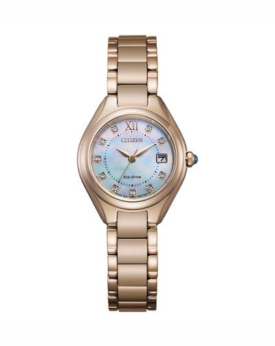 Citizen Ladies Rose Gold Crystal Dial Eco Drive Watch 50mtr_0
