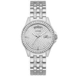 Guess Silver Stone Set Lady Comet Watch Analogue movement day & date_0