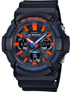 G Shock Duo Orange and Blue solar powered 200mt WR Watch_0