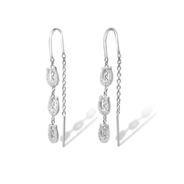 The Breeze Horseshoe Thread Earrings Are Made From Sterling Silver & Feature The Thread Style Earring With Silver Chain And Silver Horseshoes._0