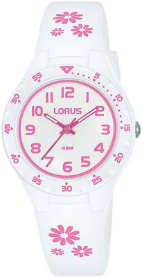 White and Pink Analoge Watch 100mtr_0