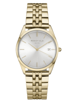 Rosefield Gold Silver Dial Analoge Watch_0