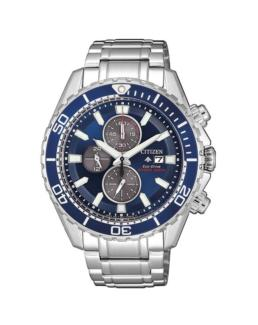 Gnts Eco-drive promaster chrono silver watch_0