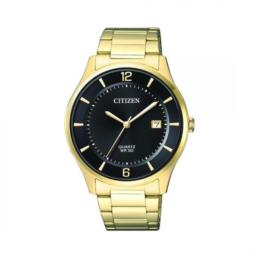 Gold Black Face 50mt Analoge Watch_0