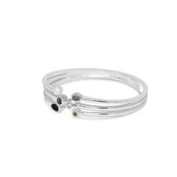 Fabuleux Vous My Colourful Life Silver Multi Stone Bangle_0