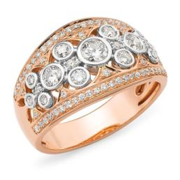 Rose and White Gold Dress Ring_0