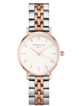 Rose Gold Silver Watch Small Edit White Dial Analoge RoseFeild_0
