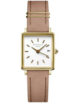 Square Face Brown Leather strap Rosefield Watch_0
