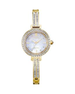 Citizen Eco-Drive Gold Analogue with Stones_0