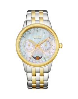Ecodrive Mother Of Pearl Face And 2 Tone Analogue Date/Day/Month_0