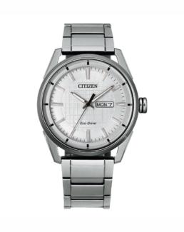 Gents analogue Day/Date Silver_0