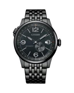 Gents ana/date WR100 Black SS band and black face_0
