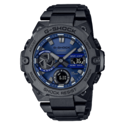 G Steel Black Carb Core Blue Dial Solar Gents Watch_0