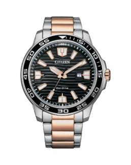 Citizen Silver and Rose Gents Eco-Drive Watch_0