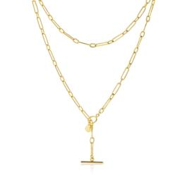 Dutchess Gold Plated Fine Fob Link Chain_0