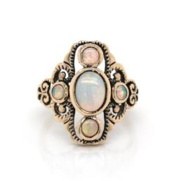 9ct yg opal vintage style ring_0