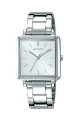 Lorus Ladies Silver Square Face Watch_0