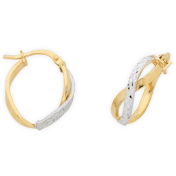 Gold Silver Filled Infinity Hoops_0
