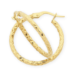 Gold Silver Filled Faceted Hoops_0