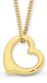Gold Silver Filled Heart Pendant_0